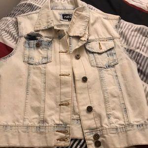 Light jeans vest